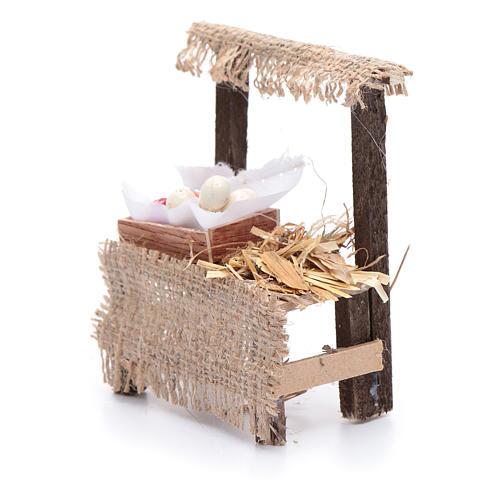 Banchetto presepe 10x5x5 cm con cassettina in legno 2