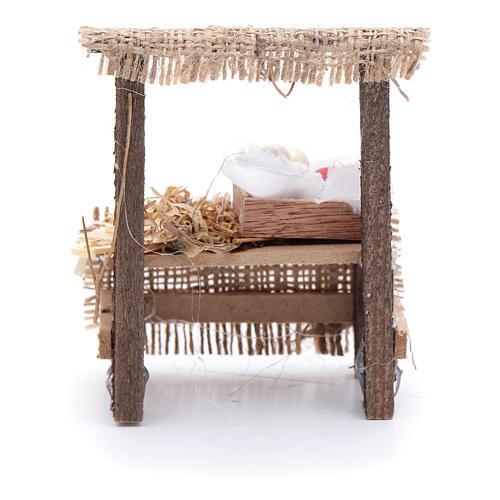 Banchetto presepe 10x5x5 cm con cassettina in legno 3