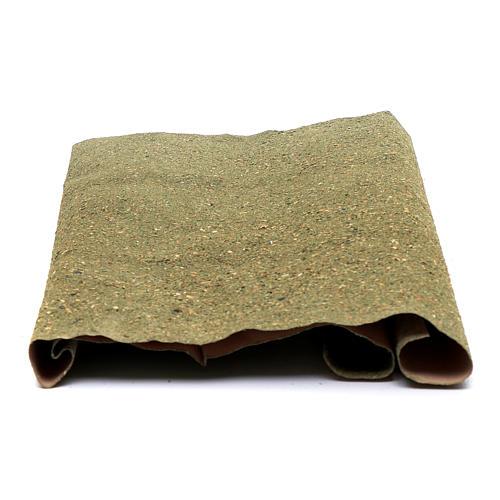 Rotolo carta per prato per presepe fai da te 50x70 cm 2