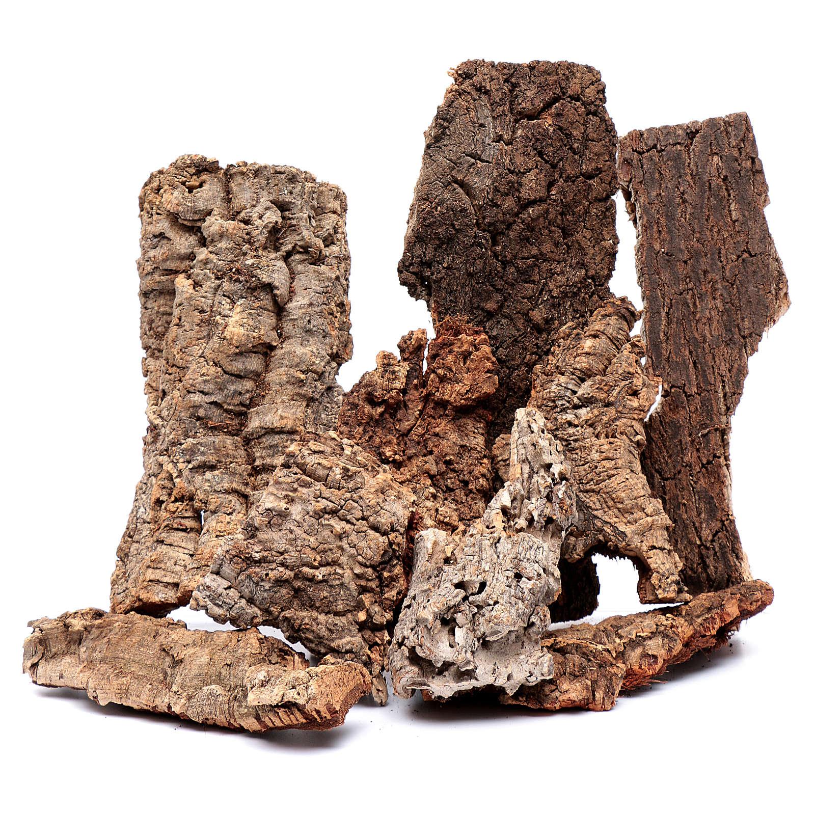 Nativity scene natural cork 4 kg 4
