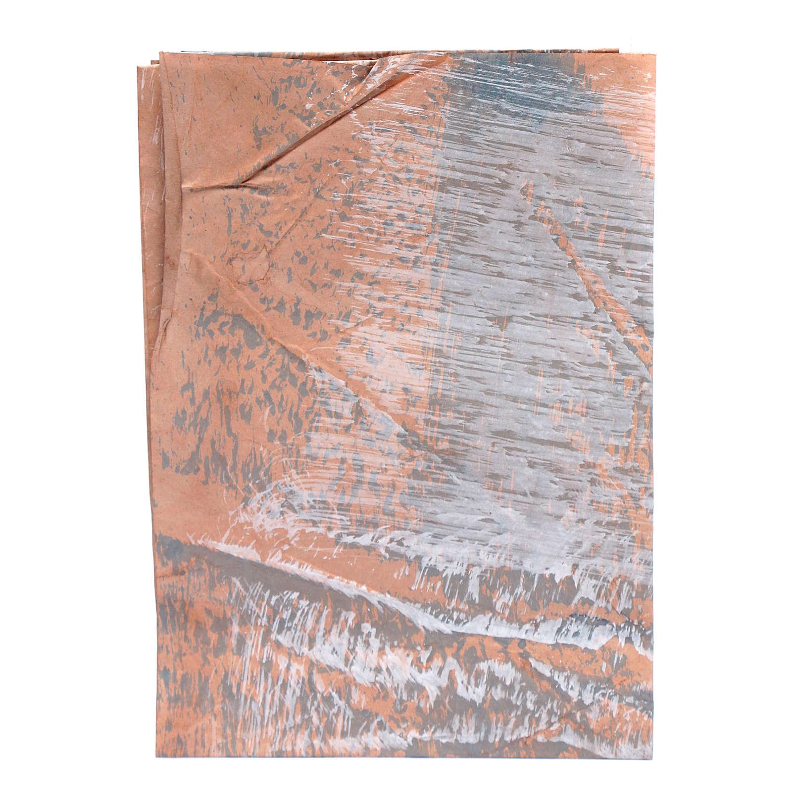 DIY nativity scene rock paper 70x100 cm hand painted 4