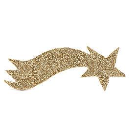 Nativity scene star comet in gold and glitter 5x20 cm s1