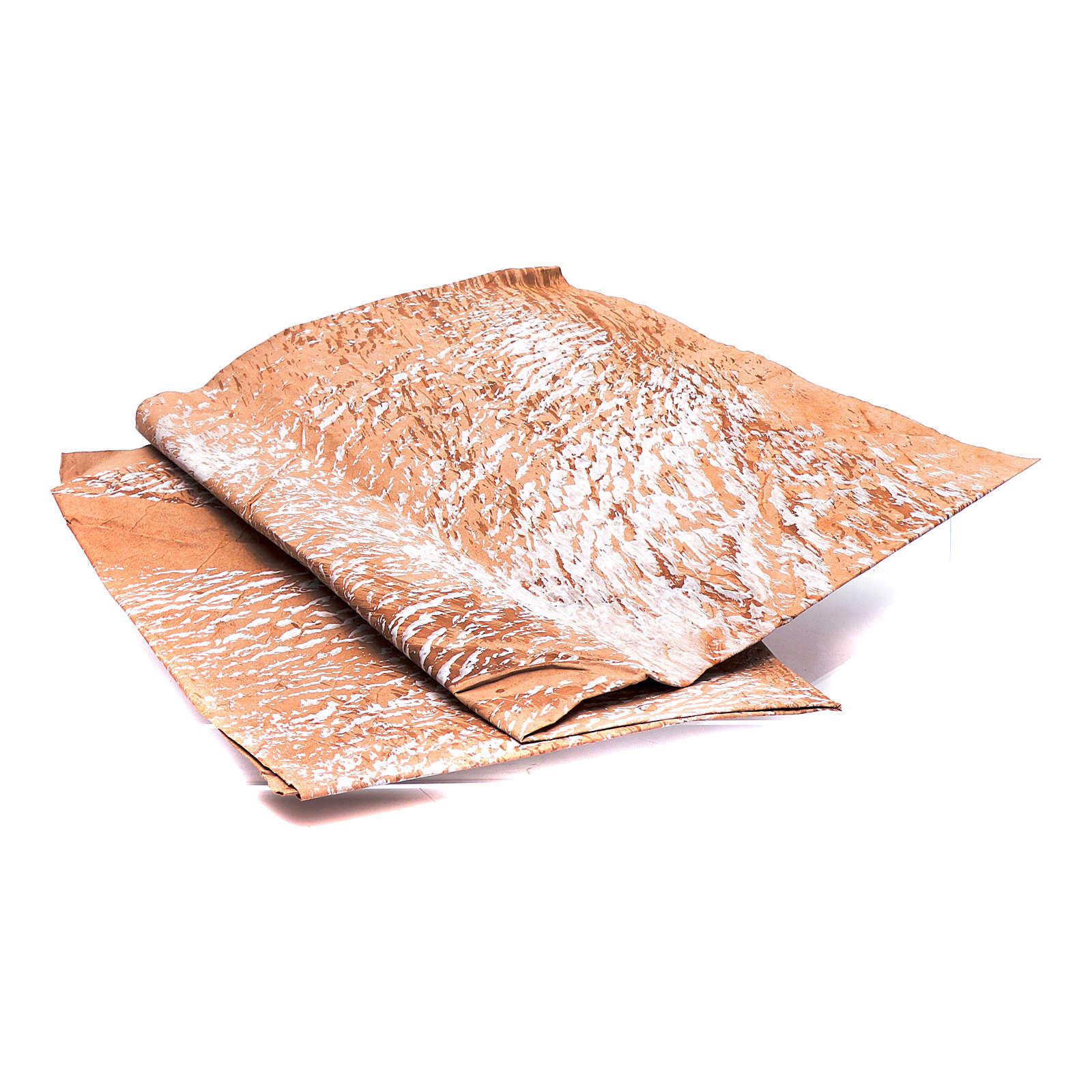 Papier roche peint main marron 70x100 cm bricolage crèche 4