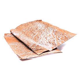 Papier roche peint main marron 70x100 cm bricolage crèche s2