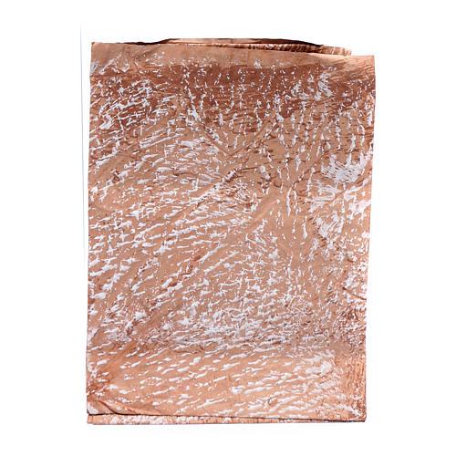 Papier roche peint main marron 70x100 cm bricolage crèche 1