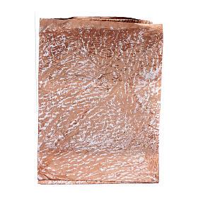 Carta roccia dipinta a mano marrone 70x100 cm presepe fai da te s1