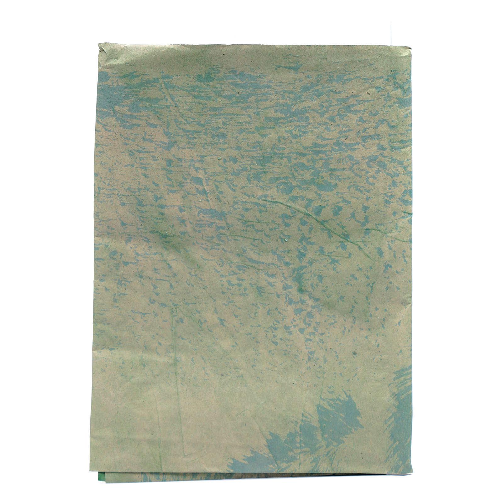 Foglio 70x100 cm carta roccia dipinta a mano per presepi 4
