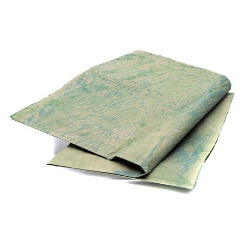 Foglio 70x100 cm carta roccia dipinta a mano per presepi 2