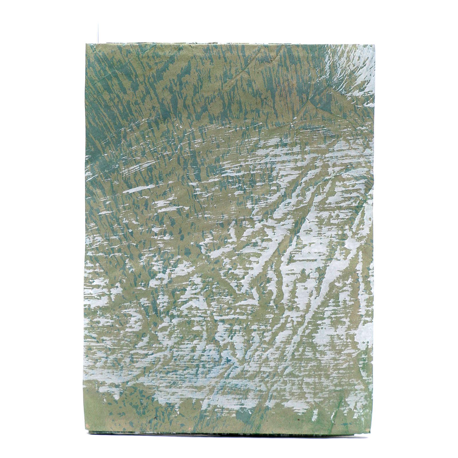 Hoja papel para belenes pintada a mano roca 70x100 cm 4