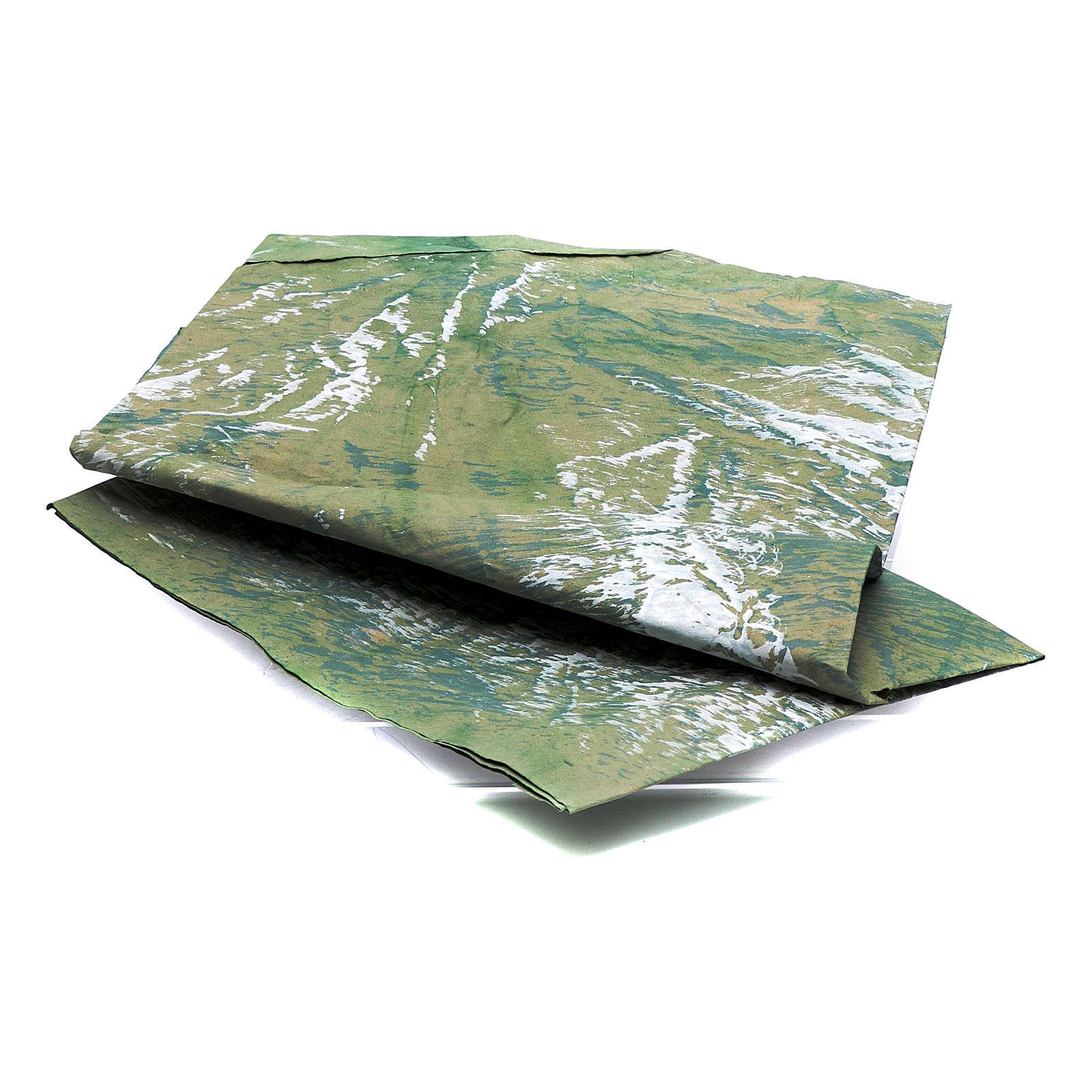 Foglio carta per presepi dipinto a mano roccia 70x100 cm 4