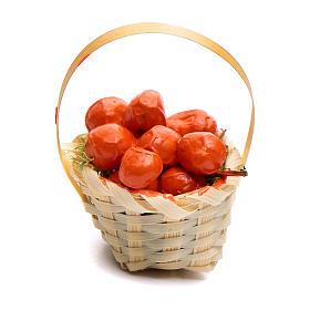 Comida em Miniatura para Presépio: Cesta fruta vária h 5 cm para bricolagem presépio