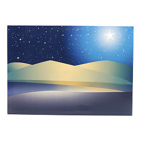 Nativity scene background: Illuminated stars backdrop led 50x70 cm