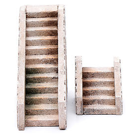 Settings, houses, workshops, wells: Cork terracotta stairs 2 pieces