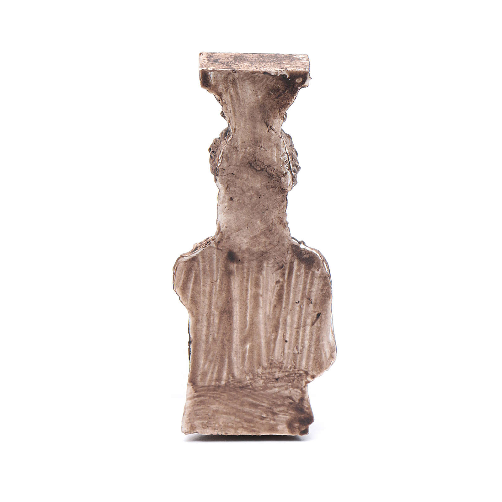 Greek goddess semi column in resin 6 cm for nativity scene 4