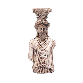 Greek goddess semi column in resin 6 cm for nativity scene s1