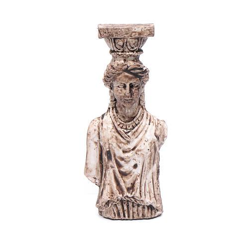 Greek goddess semi column in resin 6 cm for nativity scene 1