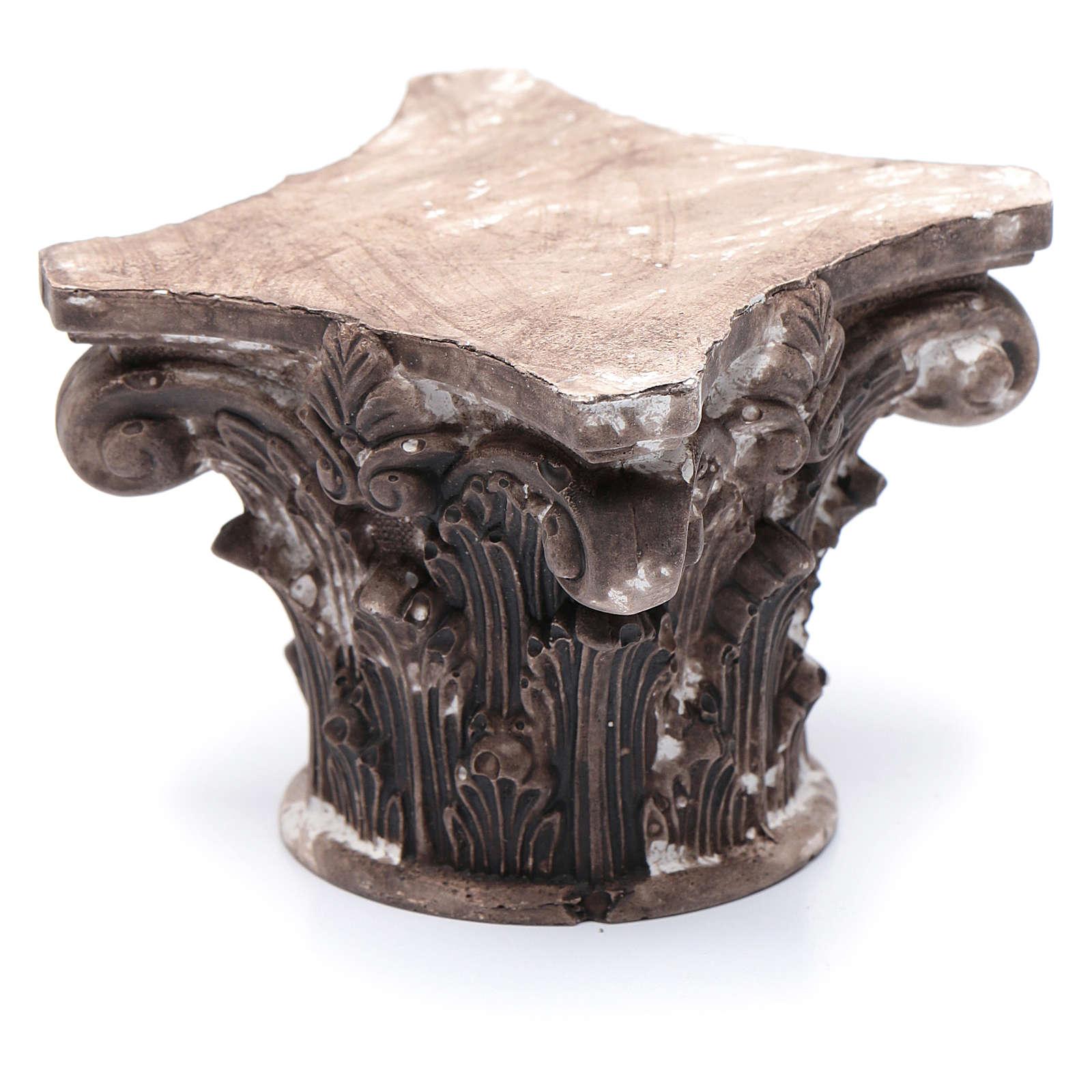 Capitello corinzio resina 5x5x5 cm presepe 4