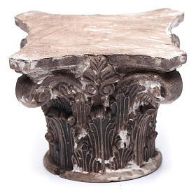 Capitello corinzio resina 5x5x5 cm presepe s1
