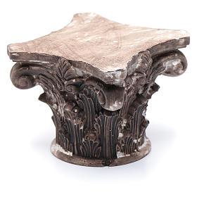 Capitello corinzio resina 5x5x5 cm presepe s2