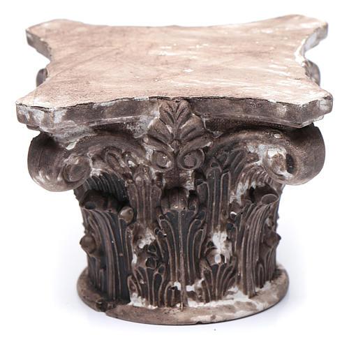 Capitello corinzio resina 5x5x5 cm presepe 1
