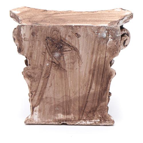 Corinthian semi capital in resin for nativity scene 5x5 cm 2