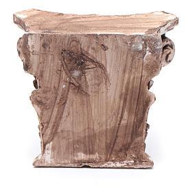 Semi capitello corinzio 5x5 cm resina presepe s2