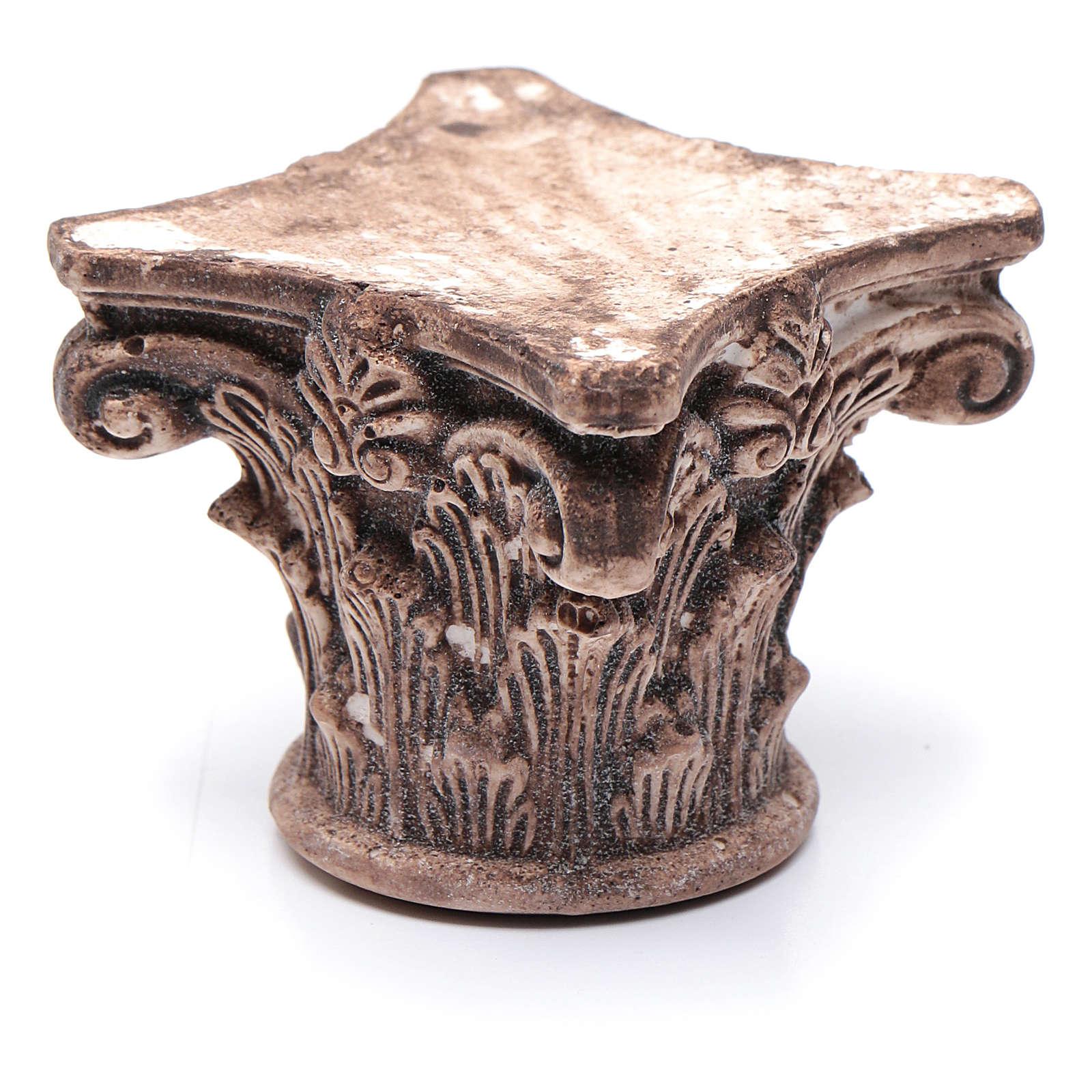 Capitello corinzio antico resina 5x5x5 cm presepe fai da te 4