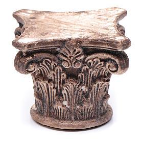 Capitello corinzio antico resina 5x5x5 cm presepe fai da te s1