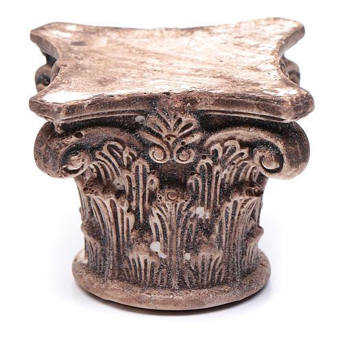 Capitello corinzio antico resina 5x5x5 cm presepe fai da te 1