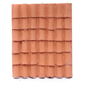 Roof with tiles in resin for DIY nativity scene s1