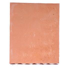 Toit avec tuiles résine couleur terre cuite 13x10 cm bricolage de crèche s3