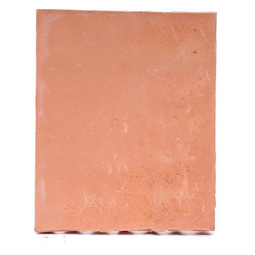 Toit avec tuiles résine couleur terre cuite 13x10 cm bricolage de crèche 3