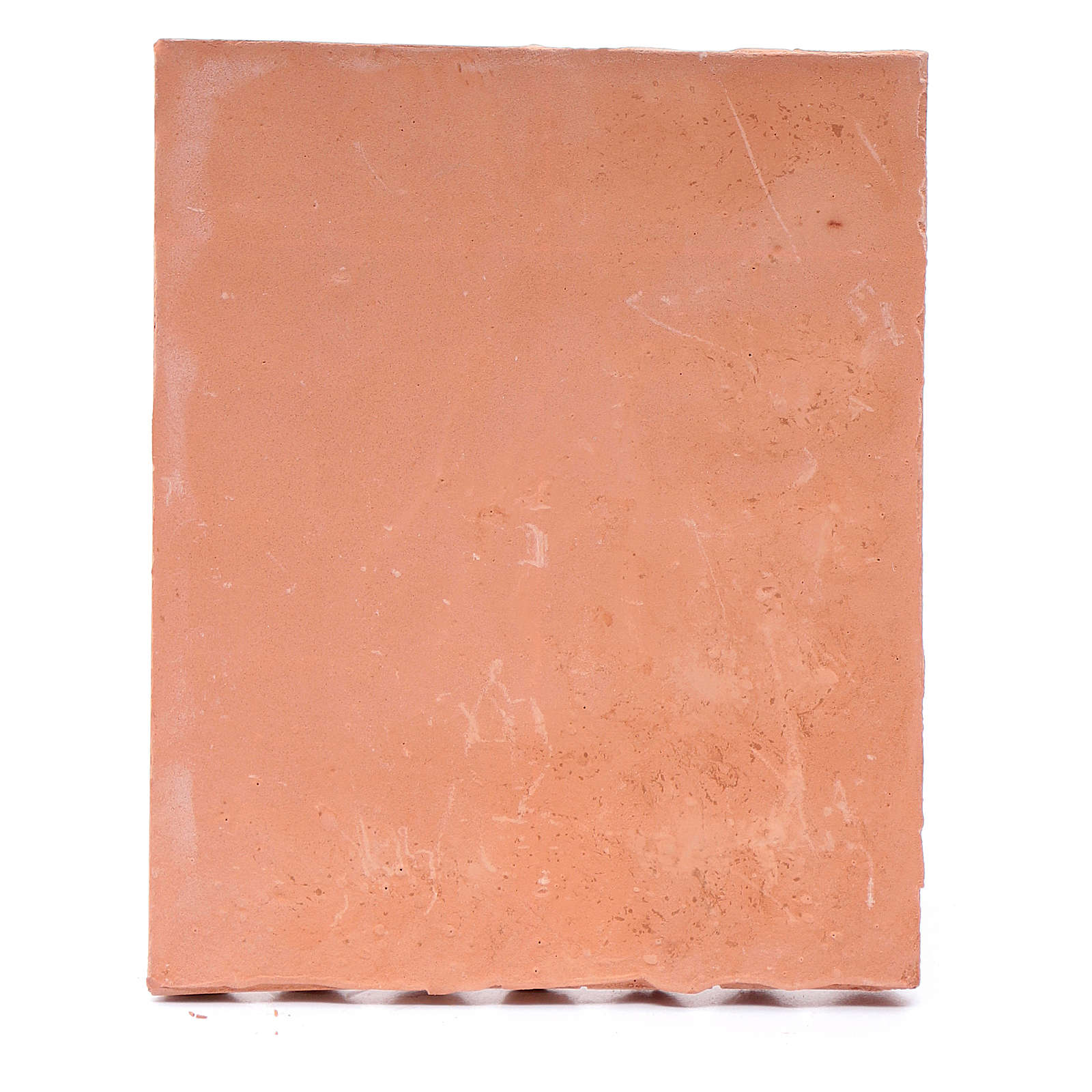 Tetto con coppi resina color terracotta 15x10 cm presepe fai da te 4