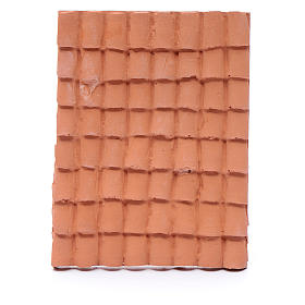 nativity scene resin roof with terracotta decorated shingles 10x5 cm s1
