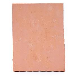 Techo con tejas 10x5 cm resina color terracota belén s3