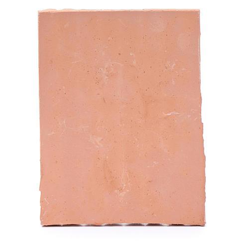 Techo con tejas 10x5 cm resina color terracota belén 3