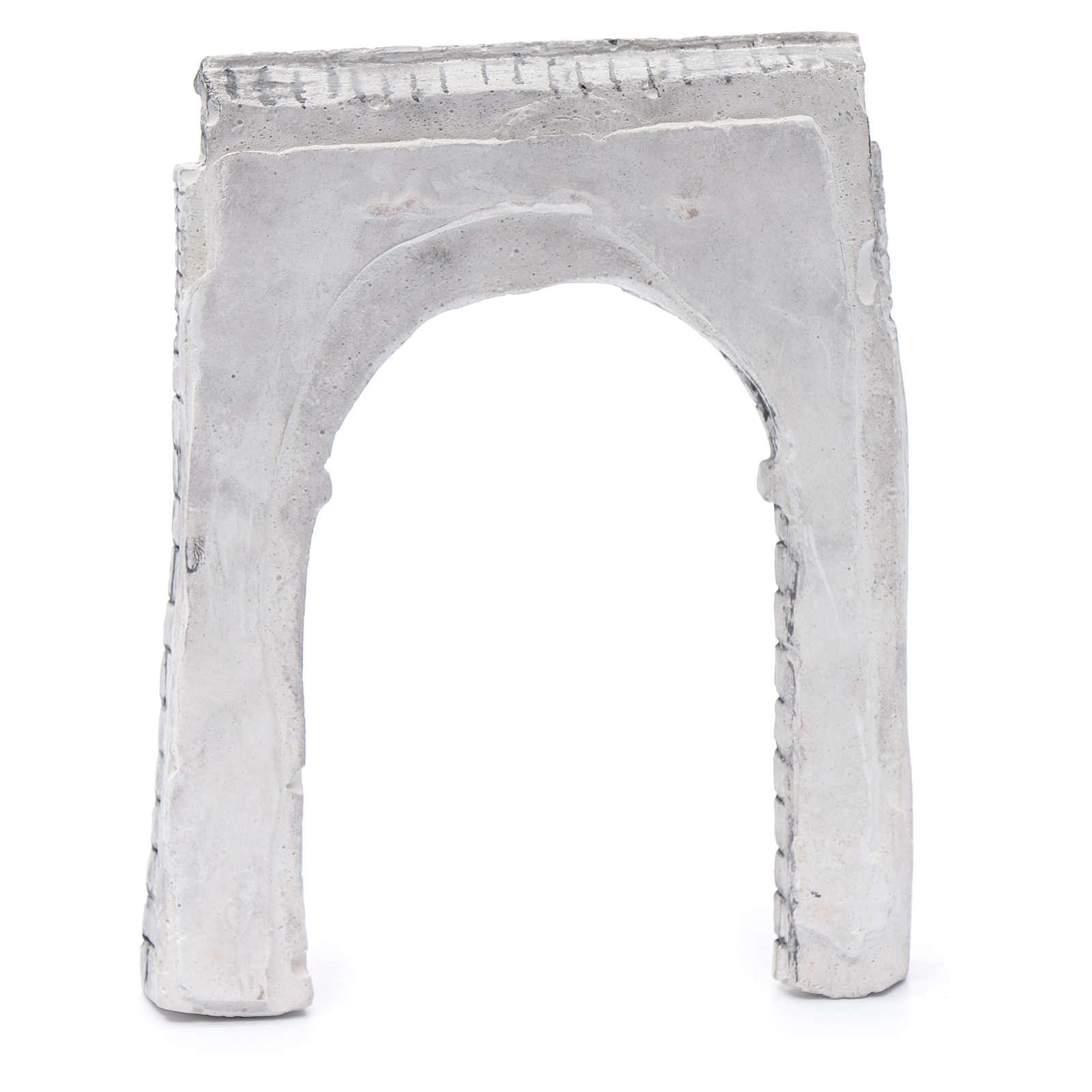 Parete ad arco resina 15x15 cm per presepe 4