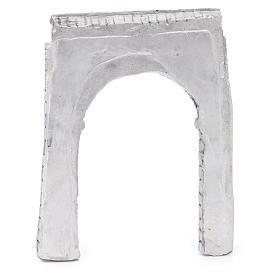 Parete ad arco resina 15x15 cm per presepe s3