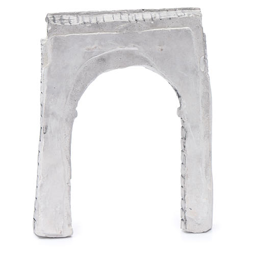 Parete ad arco resina 15x15 cm per presepe 3