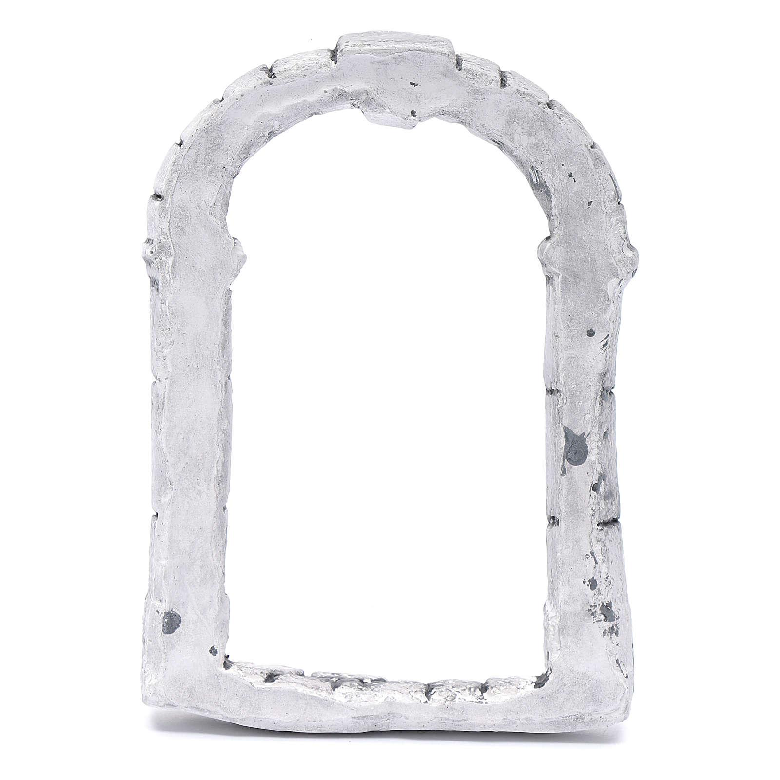 Portón para belén hecho con bricolaje 15x10 cm resina 4