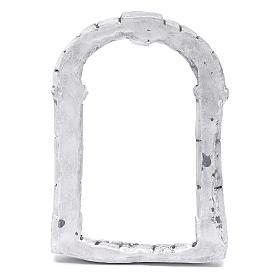 Portón para belén hecho con bricolaje 15x10 cm resina s3