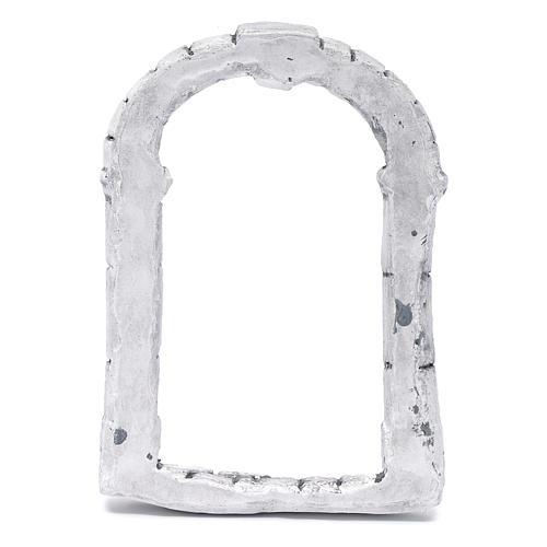 Portón para belén hecho con bricolaje 15x10 cm resina 3