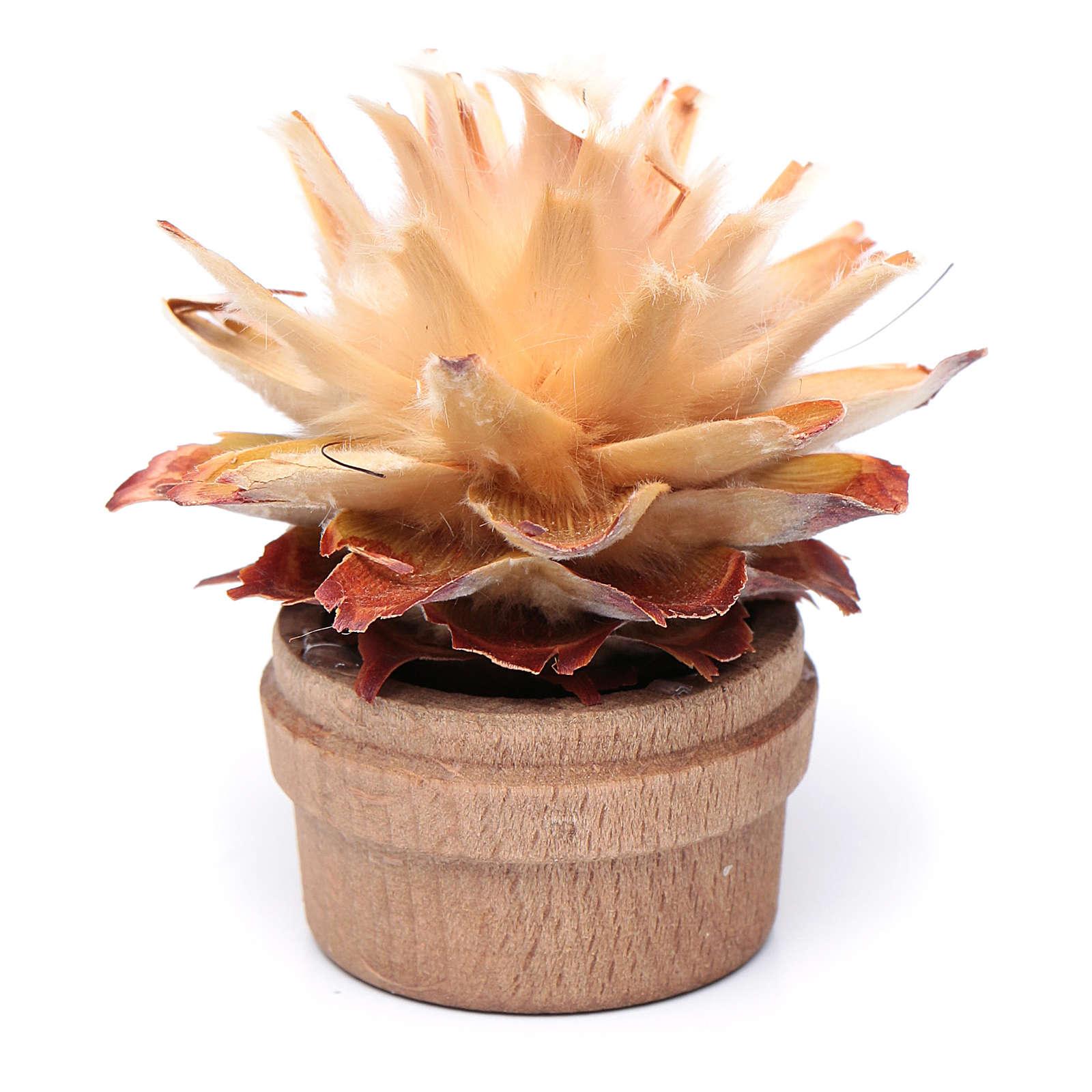 Cactus in vaso h reale 6 cm presepe 4