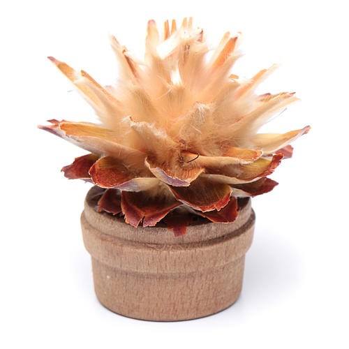 Cactus in vaso h reale 6 cm presepe 2