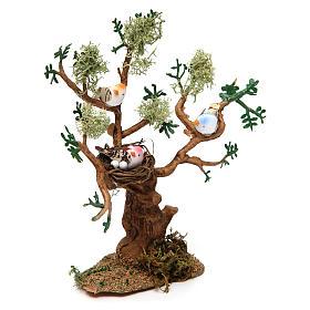 Drzewo z ptakami h rzeczywista 16 cm do szopki s2