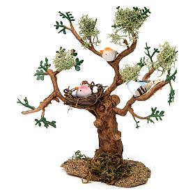 Drzewo z ptakami h rzeczywista 16 cm do szopki s3
