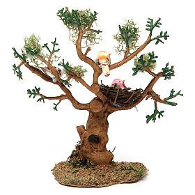Drzewo z ptakami h rzeczywista 16 cm do szopki s4