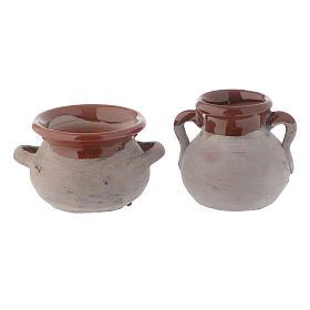 Pentola rustica ceramica h reale 4 cm presepe s2