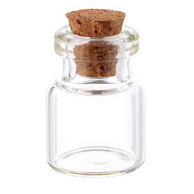 Barattolo cristallo h reale 2,5-3,5 cm per presepe s1
