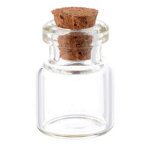 Barattolo cristallo h reale 2,5-3,5 cm per presepe 1